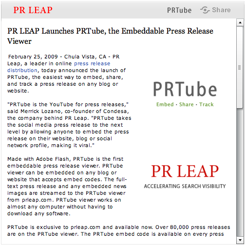 PRTube Screenshot